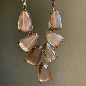 Kendra Scott Gold Dusted Glass Harlow Necklace
